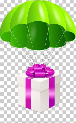Gift Parachute Christmas PNG