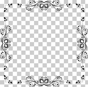 Borders And Frames Floral Design PNG