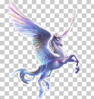 Diamond Unicorn Rhinestone Pegasus Embroidery PNG
