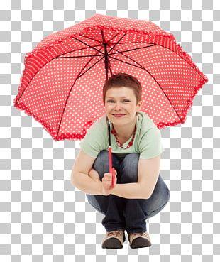 Umbrella Woman PNG