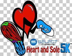 Shoe 5K Run Running Heart 10K Run PNG