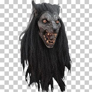 Halloween Costume Latex Mask Gray Wolf PNG
