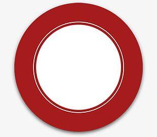 Red Circle Custom Shapes PNG