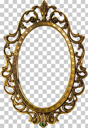 Frames Gold Decorative Arts Oval PNG