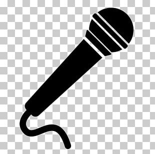 Microphone Musical Note Silhouette PNG