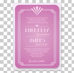 Wedding Invitation Art Deco Roaring Twenties PNG