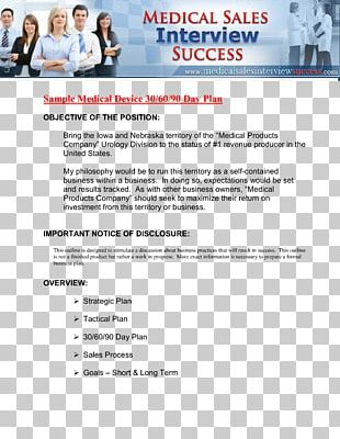 Business Plan Sales Template PNG