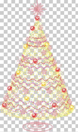 Santa Claus Christmas Tree Wedding Invitation PNG