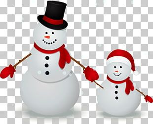 Snowman Family Illustration PNG