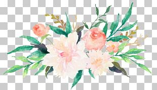 Wedding Invitation Watercolor Painting Flower Floral Design PNG