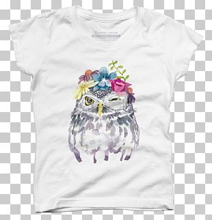 T-shirt Owl Watercolor Painting PNG