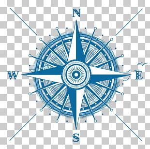 Compass Rose Drawing Illustration PNG
