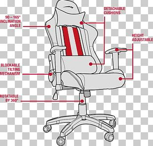 Gaming Chair Video Game Wing Chair Fauteuil PNG