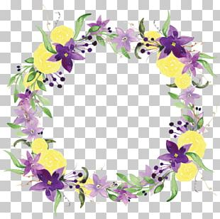 Floral Design Wreath Flower Watercolor Painting PNG