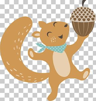 Squirrel Woodland And Forest Animals Thanksgiving PNG