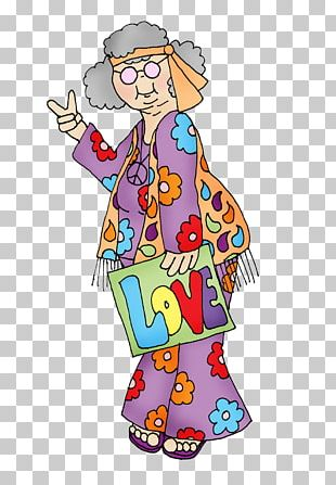 Hippie National Grandparents Day Drawing PNG