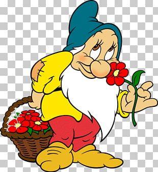 Seven Dwarfs Bashful Sneezy Snow White Dopey PNG