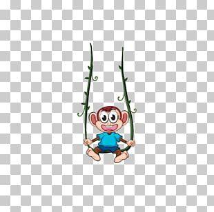Swing Monkey Illustration PNG