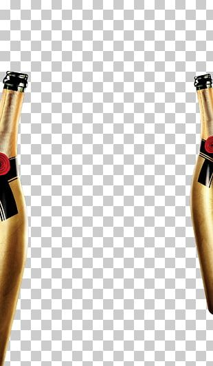 Champagne Wine Bottle Alcoholic Drink PNG