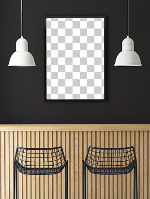 Cafe Poster Stock Photography Mockup PNG