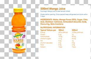 Orange Drink Juice Bottle PNG