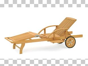 Garden Furniture Chair Wood Chaise Longue PNG
