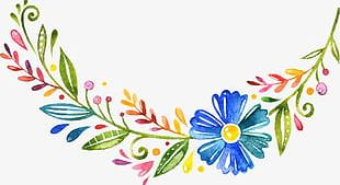 Lace Hand-painted Watercolor Cartoon PNG