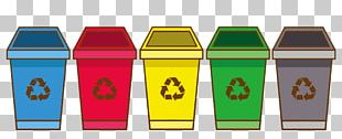 Recycling Bin Waste Container Cartoon PNG