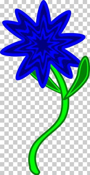 Flower Plant Stem Blue PNG