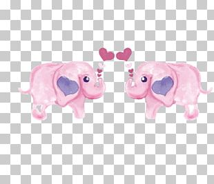Pink Elephant PNG