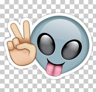 Peace Alien Emoji PNG
