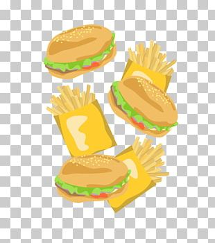 Hamburger Cheeseburger French Fries Fast Food Meatloaf PNG