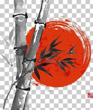 Paper Drawing Bamboo Ink Wash Painting PNG