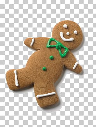 The Gingerbread Man Gingerbread House Cookie PNG