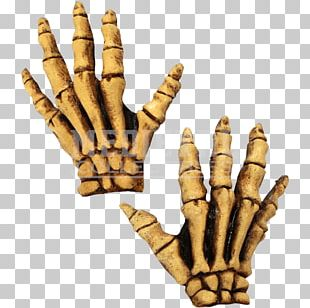 Human Skeleton Glove Costume Bone PNG