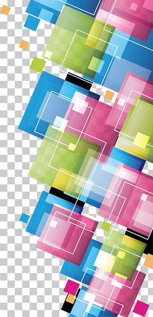 Colorful Squares Template Photography PNG