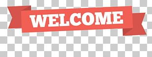 Simple Red Welcome Banner PNG