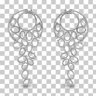 Earring Body Jewellery Silver White PNG