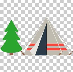 Emoji Camping Tent Christmas Tree Summer Camp PNG