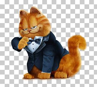 Garfield Cat Odie Drawing PNG