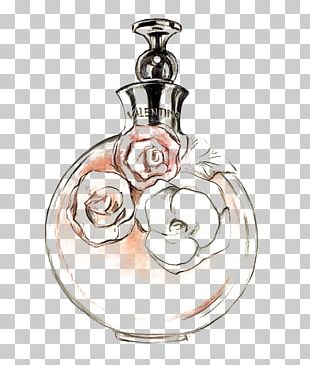 Chanel No. 5 Perfume Drawing Watercolor Painting PNG