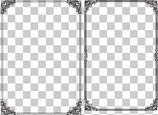 Black Frame Segmentation Line PNG