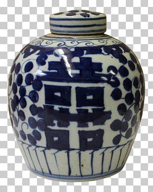 Blue And White Pottery Ceramic Vase Jar PNG