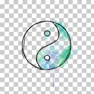 Yin And Yang Paper Drawing Watercolor Painting PNG