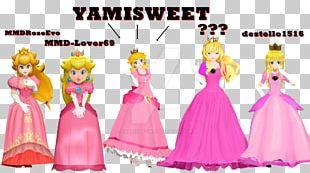 Princess Peach Princess Zelda Tennis Nintendo MikuMikuDance PNG