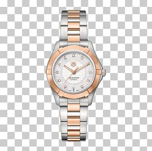 TAG Heuer Automatic Watch Diamond Dial PNG