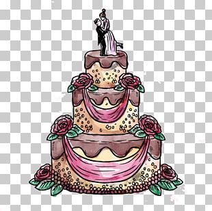 Torte Wedding Cake Birthday Cake Watercolor Painting Illustration PNG
