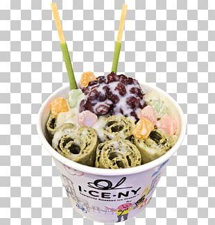 Gelato Green Tea Ice Cream Matcha Frozen Yogurt PNG