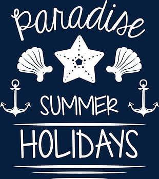 Summer Paradise English Word PNG