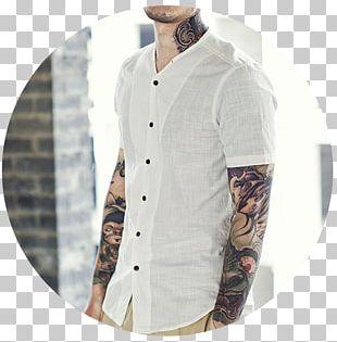 T-shirt Sleeve Dress Shirt Button PNG